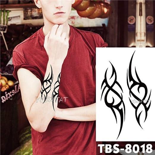 3PCs-Tatuaje Impermeable Etiqueta de Tatuaje de Llama Moderna ...