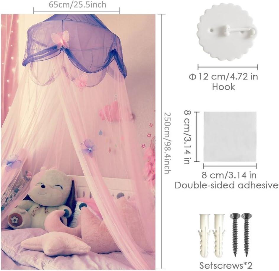 Mosquitera de encaje para cama con dise/ño de estrellas HoneybeeLY protecci/ón contra insectos y moscas decoraci/ón para ni/ños interior y exterior altura decorativa de 250 cm