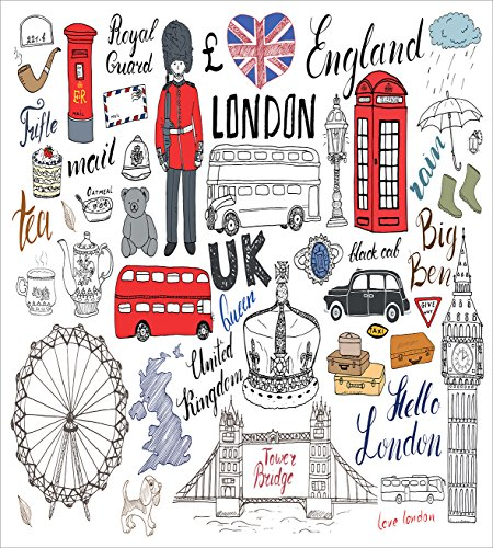 Ambesonne Hipster Duvet Cover Set, I Love London Double Decker Bus Telephone Booth Cab Crown of United Kingdom Big Ben, Decorative 3 Piece Bedding Set with 2 Pillow Sham, King Size, White Red