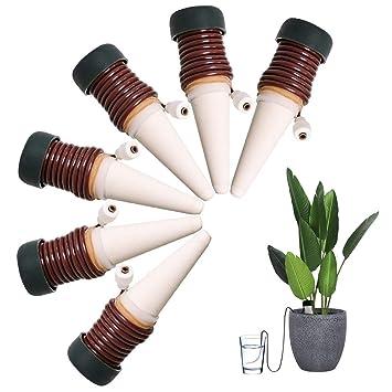 Dispensador de agua de riego Wady, para plantas de interiores, sistema automático de riego (6 unidades): Amazon.es: Jardín