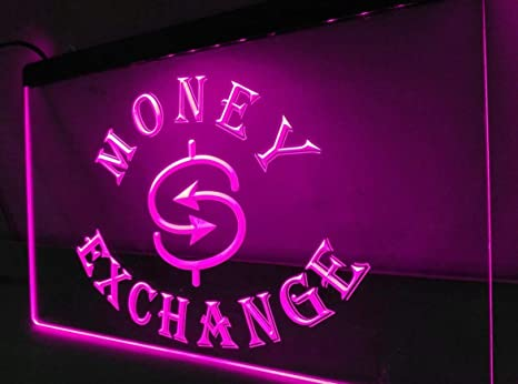 Amazon com : Money Exchange Neon Sign for Food Cafe Bar Pub Store