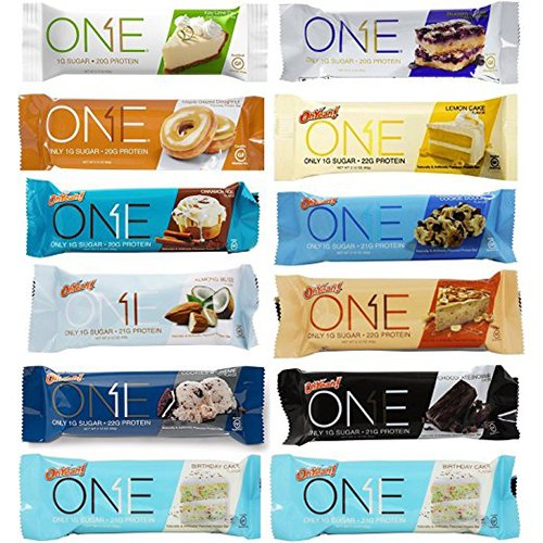 Oh Yeah! One Bar Variety 12 Count Pack | Includes New Key Lime Pie (Food Bar Key Lime Pie)