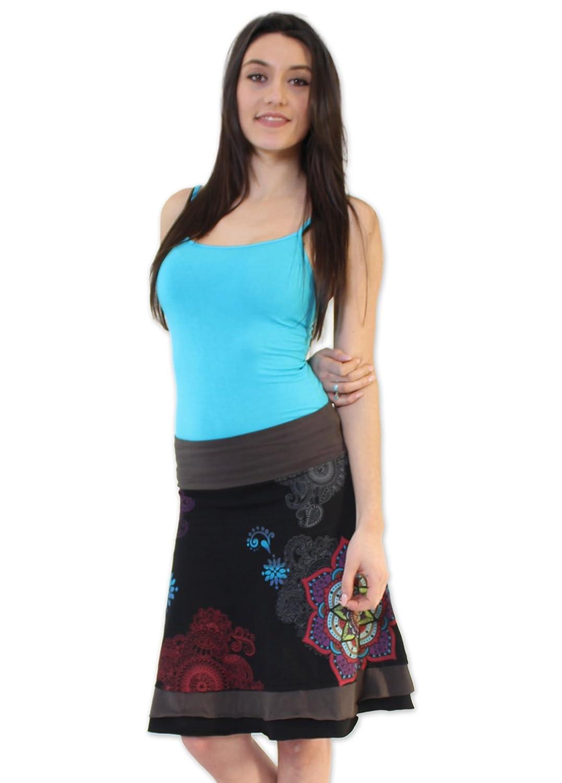 Coton du Monde-Falda FLAVY, Color Negro Multicolor 40: Amazon.es ...