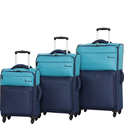 it luggage Duotone 4 Wheel Lightweight 3 Piece Set, Capri Breeze Dress Blues