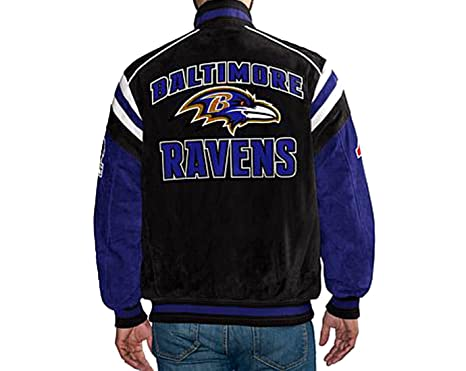 half off 36664 0f58c G III Baltimore Ravens Suede Leather Jacket NFL Coat (S) at ...