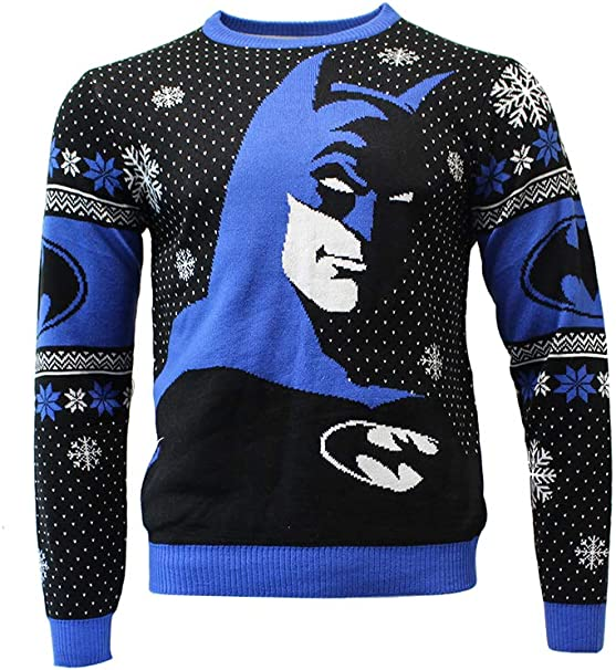 Official Batman in The Shadows Christmas Jumper/Ugly Sweater UK 2XL /US XL