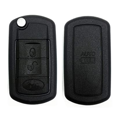 Ezzy Auto 3 Buttons Flip Key Shell Case Fob fit for LAND ROVER Range Rover Sport LR3 Discovery Keyless Remote Entry: Automotive