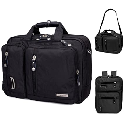 FreeBiz - Bolsa para ordenador portátil de 15 pulgadas multifunción - maletín para laptop con asa de transporte y correa para el hombro, apta para ...