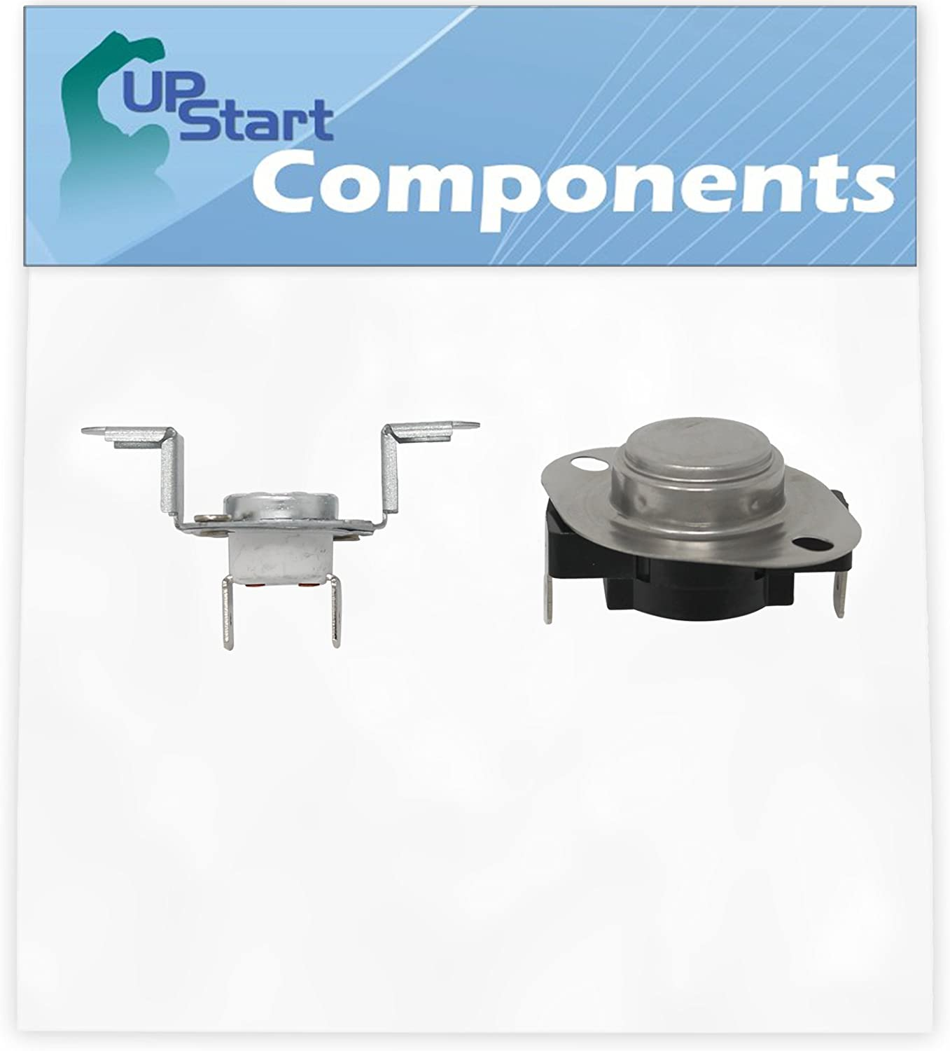 """Replacement 279973 Thermostat and Thermal Cut-Off Kit for Whirlpool WED9270XL0 27"""" Residential Electric Dryer"""