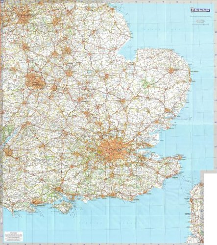 michelin regional wall map of south east england the midlands east anglia a