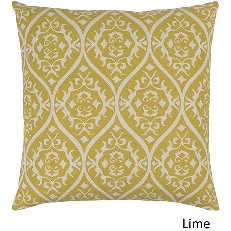 Amazon.com: 1 almohada floral blanca amarilla de 7.1 x 7.1 ...