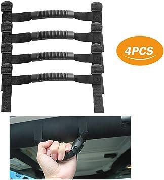 4 x Roll Bar Grab Handles Grip Handle for Jeep Wrangler YJ TJ JK JKU JL JLU Sports Sahara Freedom Rubicon X /& Unlimited 1995-2018