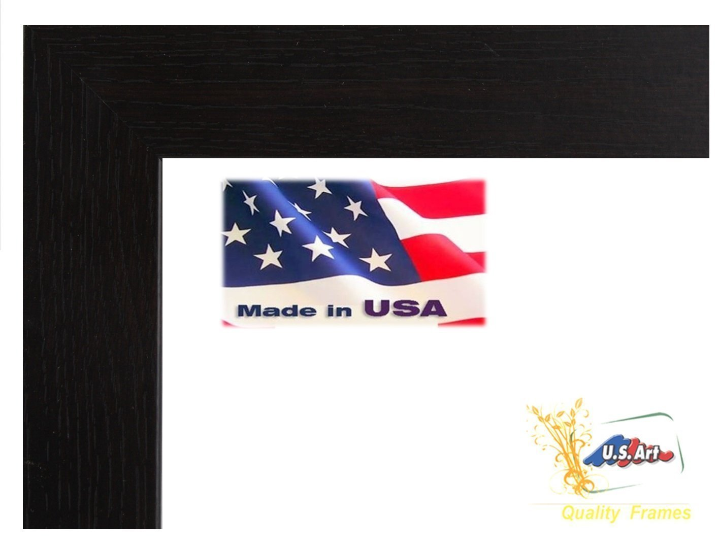 US Art 4x6 Elegant Super Thick 1.5 inch Wide Flat Colombian Coffee//Black Picture Poster Frame Wall Decor Wood MDF