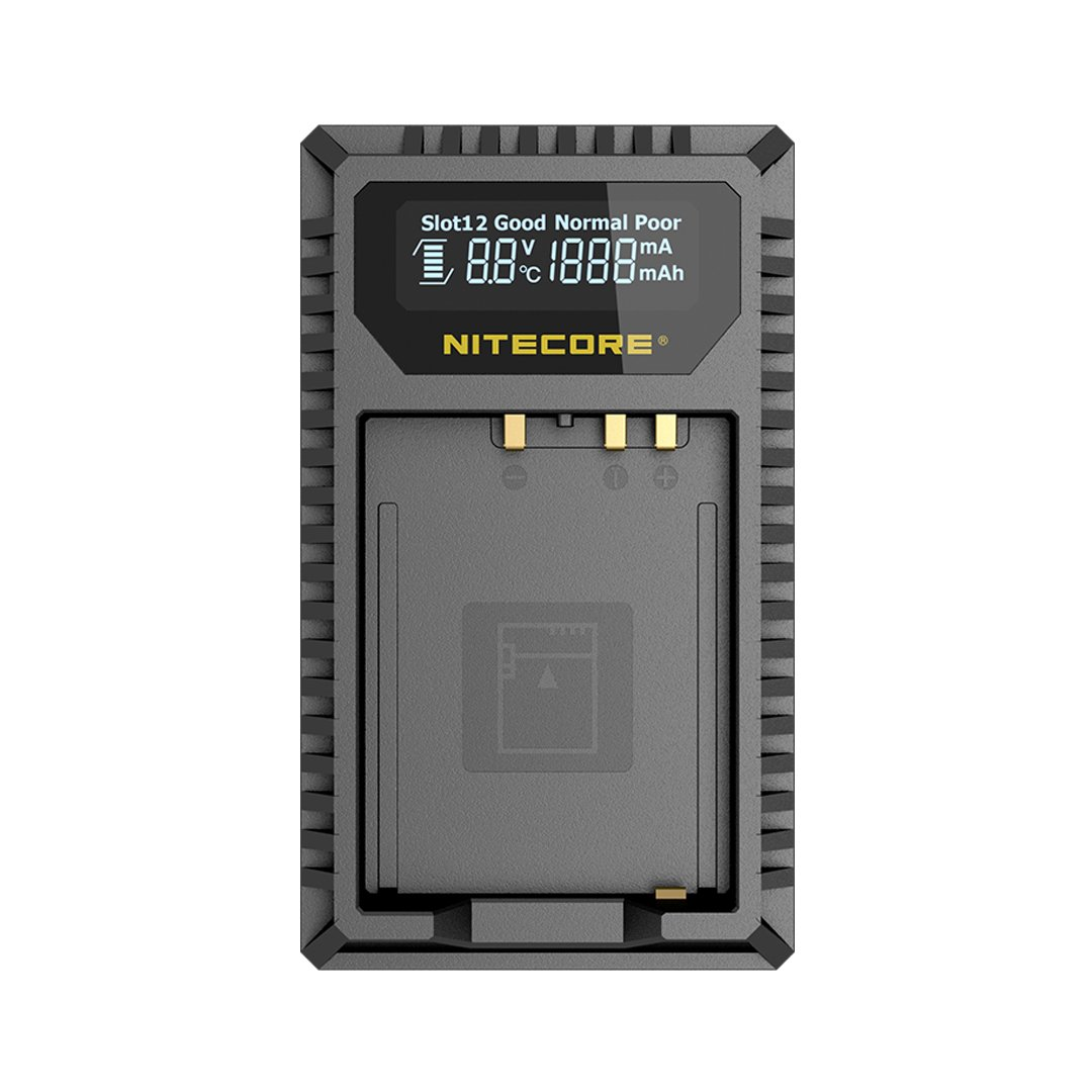 NITECORE FX1 Digital USB Camera Battery Charger Compatible with Fujifilm NP-W126 & NP-W126S Batteries with LumenTac Adapter