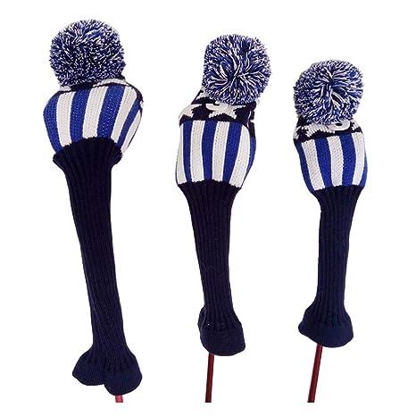LJJOZ Golf Club Cover Golf Knit Wood Ball Head Protector 1/3 ...
