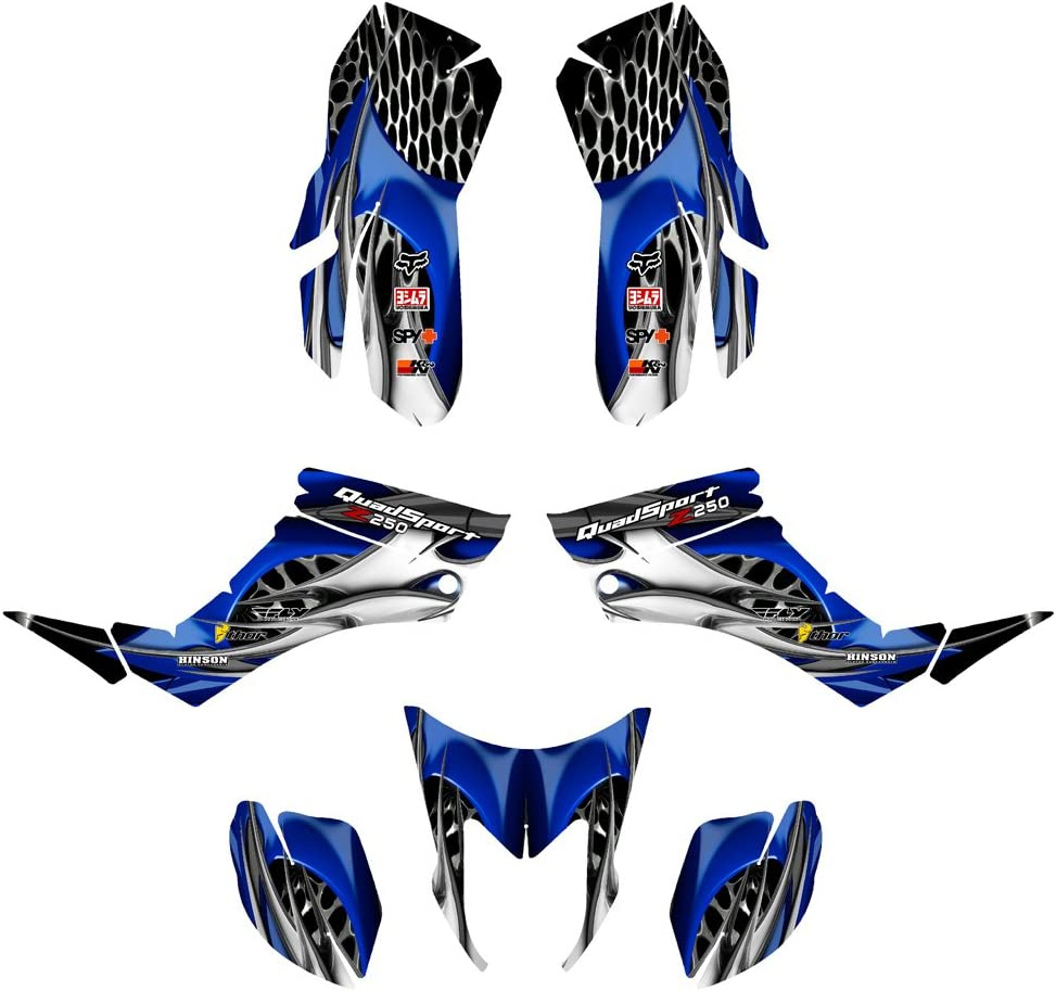 Suzuki LTZ 250 Lt-Z250 Graphics Decal Kit Fits All Years By Allmotorgraphics No4444 Blue