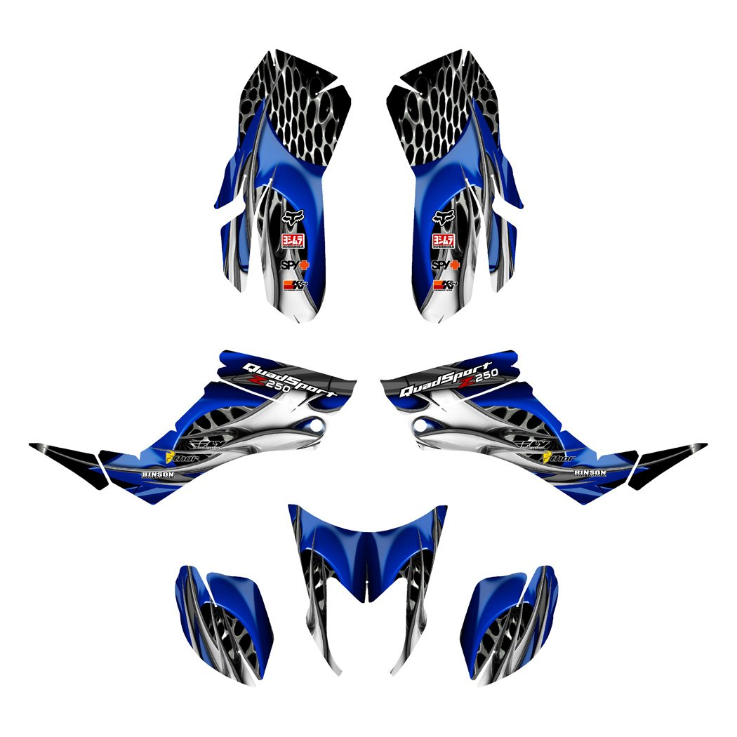Suzuki LTZ 250 Lt-Z250 Graphics Decal Kit Fits All Years By Allmotorgraphics No4444 Blue 4333285120
