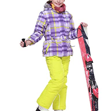CASUALBOYS Traje de Esquí Los Niños Y Niñas Traje Al Aire Libre A ...