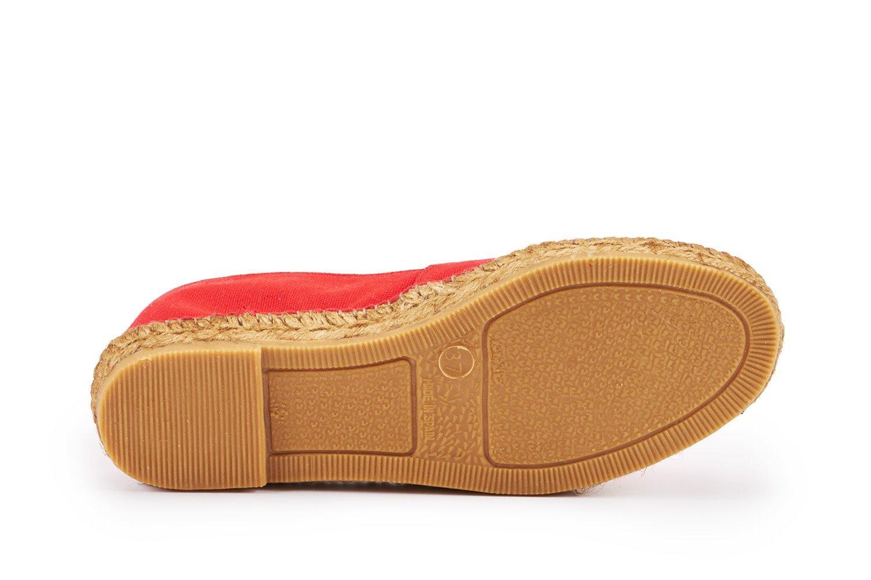 VISCATA Damen Barceloneta Espadrilles Authentische & Original Spanisch Made Espadrilles Barceloneta mit Elastic V Innennaht für Extra Komfort Rot cae547