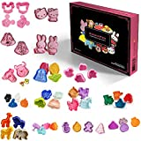 Cookiepro Cartoon Edition - 50pc Set Of Ejector Punch Cookie Cutters In Various Themes - Mickey Mouse, Minnie Mouse, Hello Kitty, Winnie The Pooh, Miffy, Chippy, Animal, Insect, Fruits, Halloween, Christmas, Easter, Baby, Cars, Snow White, Angry Birds - Fondant, Cake, Cookie, Sugarcraft, Baking Moulds + Free Designs Idea Booklet
