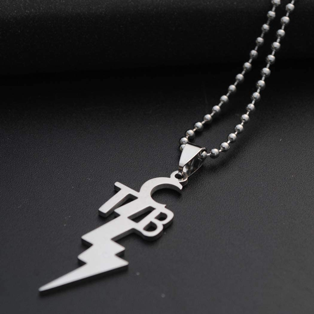 Zoylink Mens Pendant Necklace Fashion Decorative TCB Stainless Steel Charm Necklace