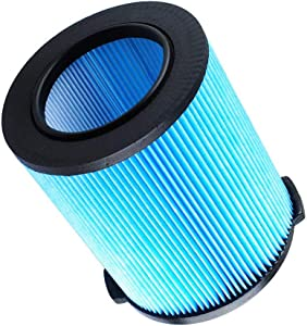 CBT Supply Replacement Filter for Ridgid VF5000 5-20 Gallon Wet Dry Vacuums 3-Layer Pleated Paper Vacuum Filter 1 Pack…