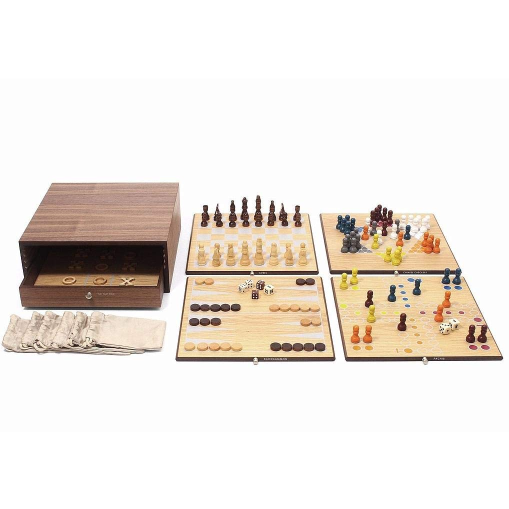 Swing Design Collector's Edition 5-in-1 Game Set with Walnut & Oak Finish