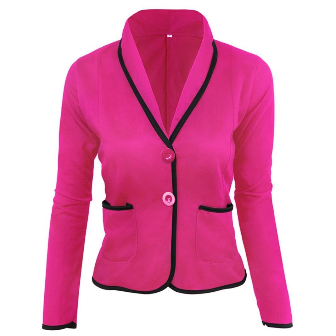 Women's Long Sleeve One Button Blazer Suit Jacket Coats Slim Shirts Size S-6XL