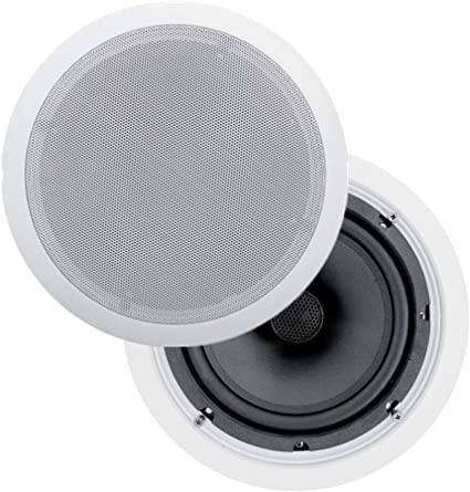 """8/"""" Ceiling In-Wall Speakers Stereo Flush Mount Contractor Business Lot 12 NEW"""