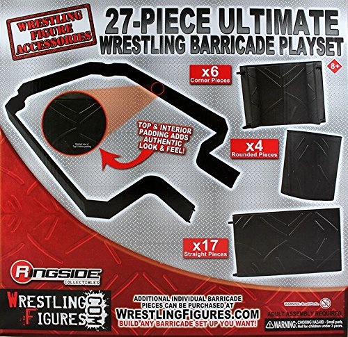 - 27-PIECE ULTIMATE WRESTLING BARRICADE PLAYSET - RINGSIDE COLLECTIBLES EXCLUSIVE WWE TOY WRESTLING ACTION FIGURE PLAYSET