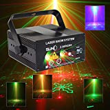 Sumger IR Remote 5 Lens 80 Patterns RG Mini LED Laser Stage Projector Lighting Blue Light Effect Show For DJ Disco Party Lights