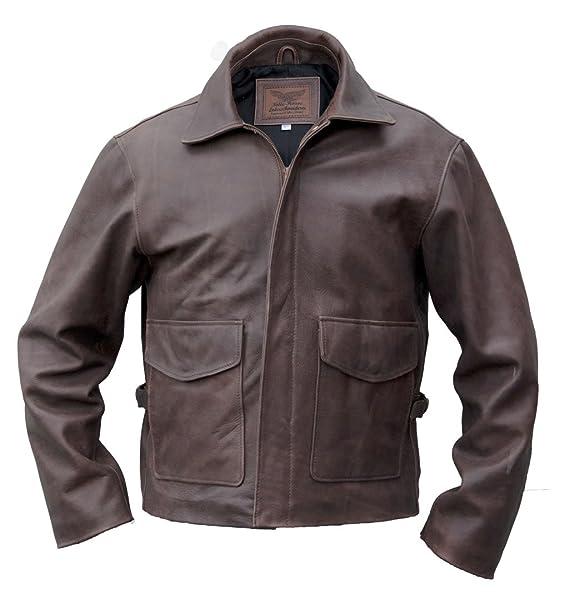 Noble House Indiana Jones Leather Jacket, steerhide at Amazon Mens Clothing store: