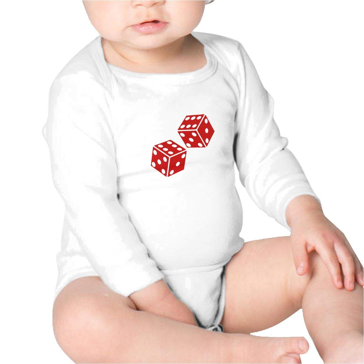 Pikaqiuleilei Dice Clipart Toddler Cotton,Long Sleeve Creeping Suit