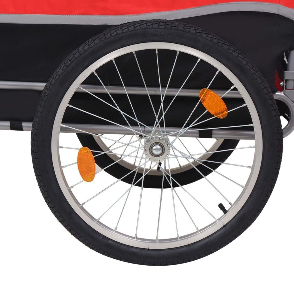 Festnight Outdoor Dog Bike Trailer Cargo Luggage Trailer Red and Black by Festnight (Image #4)