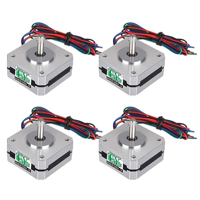 Hemobllo Motores de Impresora 3D de 4 Piezas 12-24v 4 Motores Paso ...