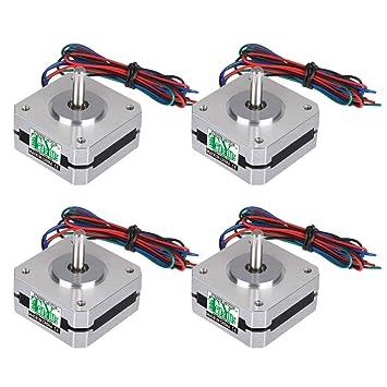 Hemobllo Motores de Impresora 3D de 4 Piezas 12-24v 4 Motores ...
