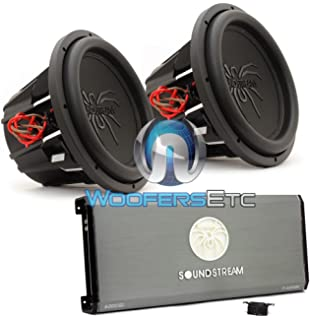 Amazon t5152 pair soundstream 15 1300w rms dual 2 ohm t5 pkg soundstream t16000dl monoblock amplifier pair of t5152 15 dual publicscrutiny Gallery