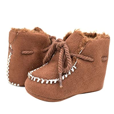 Amiley Toddler Baby Boys Girls Soft Sole Snow Boots Crib Shoes Toddler Bootie