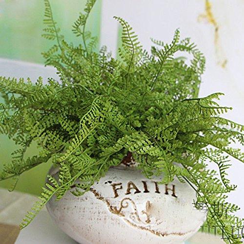 Kicode Grass Plant Flower Bonsai Green Artificial Fake for Garden Succulent Grass Desert Landscape Garden Cute Decoration 11.7