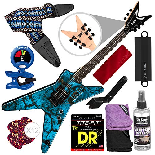 Dean Dimebag Pantera Far Beyond Driven ML Electric Guitar with Clip-On Tuner, Guitar Strap, Massaging Strap Attachment, and Complete Accessory Bundle Dean Ml Bass Guitar