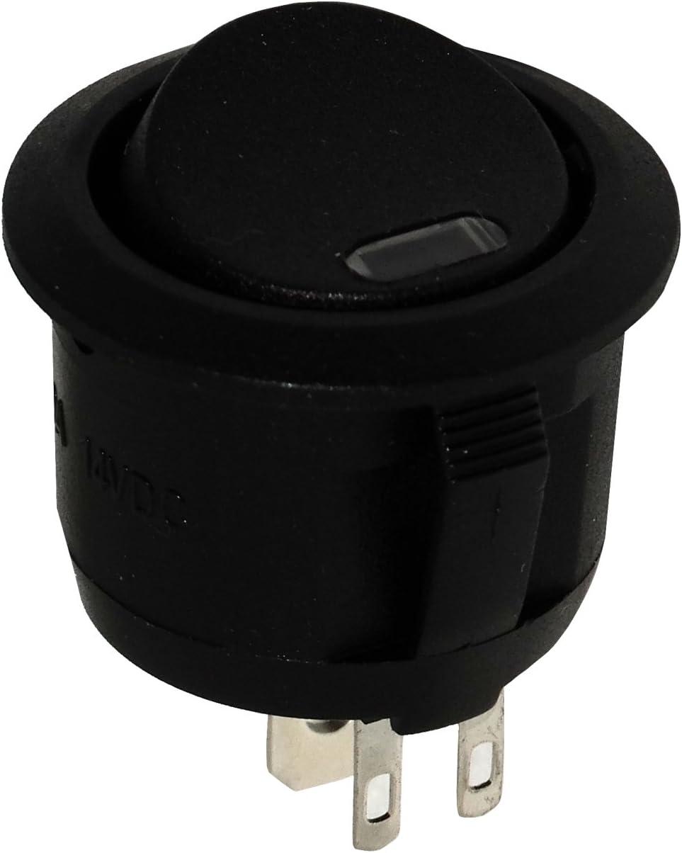 AERZETIX Interruptor conmutador basculantes de boton SPST ON-OFF 20A//12V 2 posiciones C10772