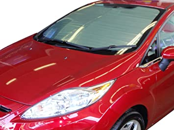 AutoTech Zone Sun Shade for 2011-2018 Ford Fiesta Sedan Custom-fit Windshield Sun Shade
