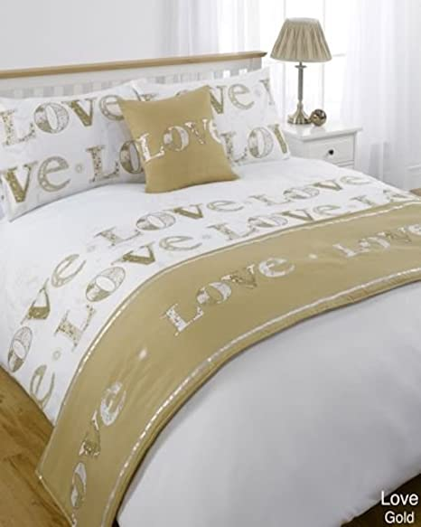 Luxury 5PC Reversible Duvet Cover Bedding Set with Pillowcases For Home Bedroom