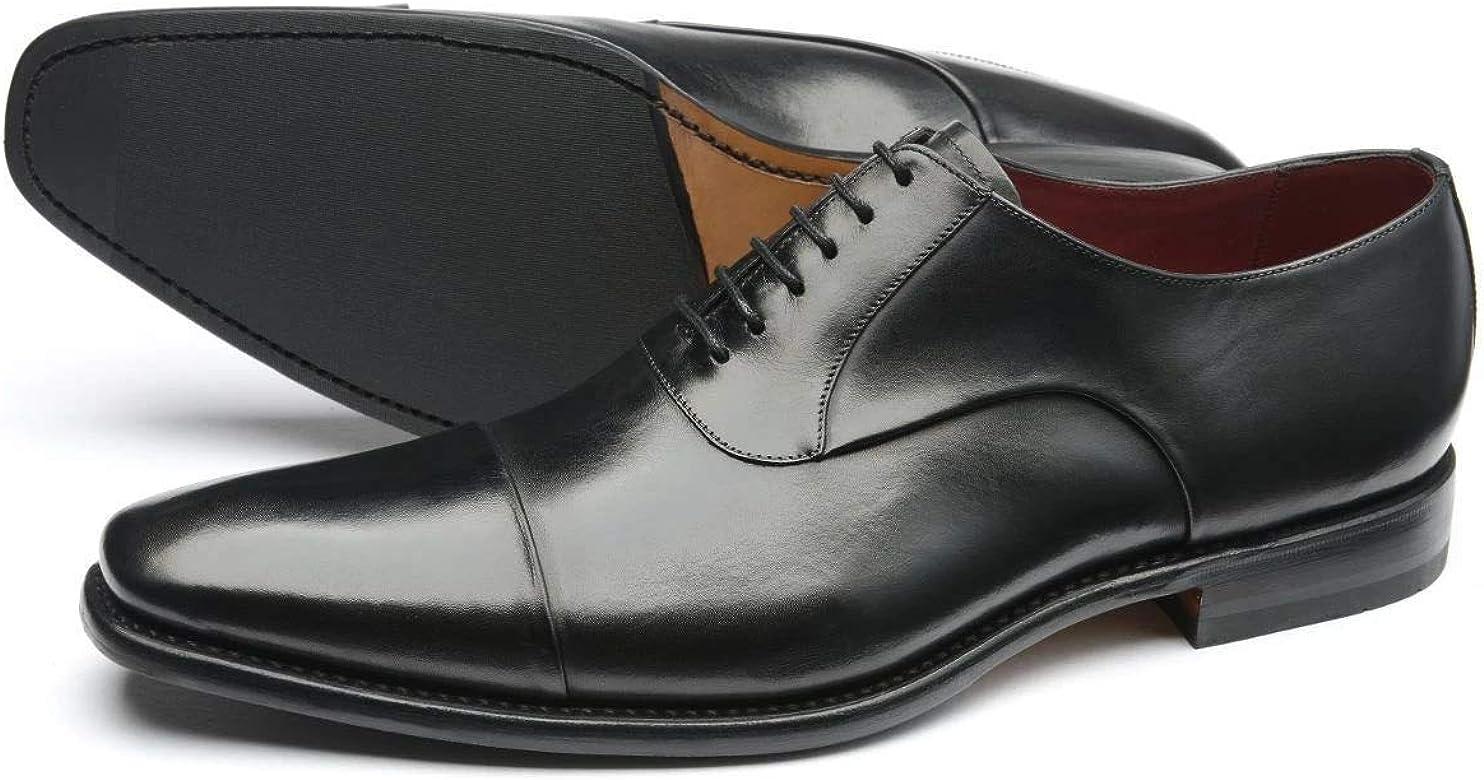 Loake Snyder Black Calf Leather Toe Cap