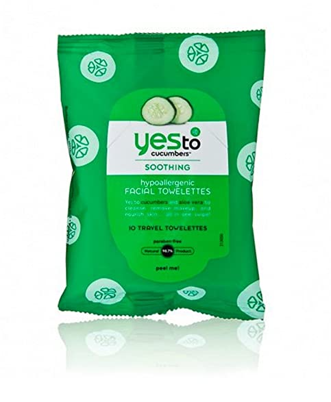 Yes To Cucumbers Soothing Hypoallergenic Facial Wipes, 10 ct (Pack of 3) Beurer Electric Waterproof Facial Cleansing Brush