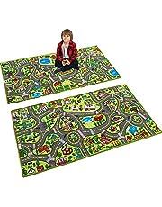 JOYIN Playmat City Life Speelmat voor kinderen van 3 jaar, jumbo play-kamer tapijt, City Pretend Play
