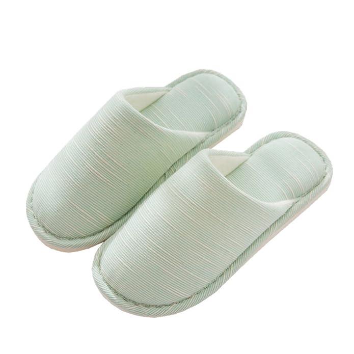 Rojeam Baumwollpantoffel rutschfeste warme Pantoffel-Innenschuh-Schuhe für Frauen und Männer kHL1Jy6f