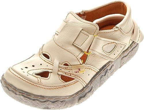 TMA Leder Damen Sandalen Echtleder Comfort Sandaletten viele Farben 7088 Halb Schuhe 36 42