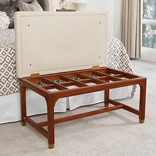 Hotel Style Folding Luggage Bench | Luxury Cushioned Seat Retro