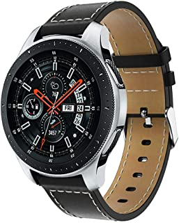 Bracelet Compatible Fitbit Ionic, Bracelet de Cuir Souple Montre Remplacement Bande, JSxhisxnuid Rétro Classique Blanc Points Suture Bracelet avec Métal Boucle, pour Fitbit Ionic